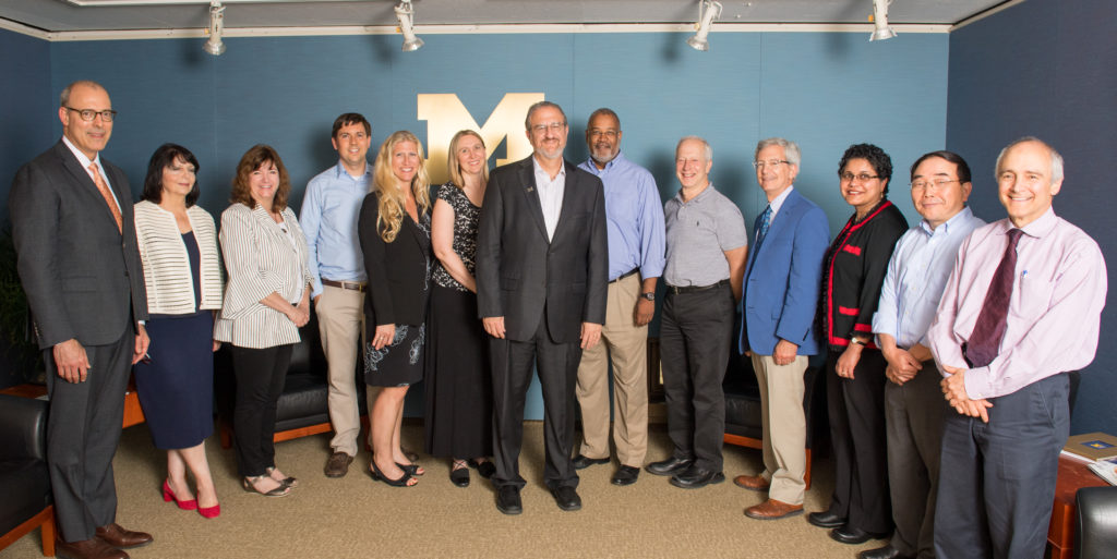 Photo of Coordinating Committee, President, and Provost